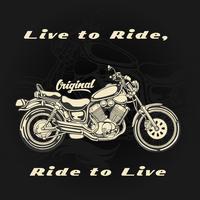 Lebe um zu reiten und reite um zu leben vektor