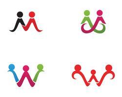 Annahme und Gemeinschaftspflege Logo Vorlage Vektor Icon,