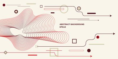 Abstrakt geometrisk bakgrund med platt trendig minimal stil bakgrund. Pil, cirkel, fyrkant, linjelement.