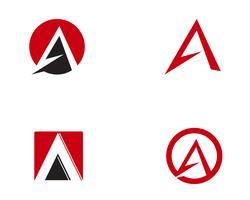 Ein Brief Logo Business Template Vektor Icon ,,