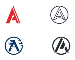 Eine Logo Letter Business Template-Vektorikone