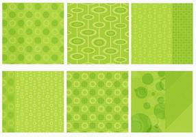 Flippiger grüner Hintergrund-Vektor-Satz vektor