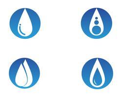 Wassernaturlogo und Symbolschablonenikonen-APP