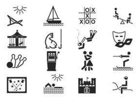 Freizeit Vektor Icons Pack