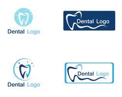 Tandvårdslogotyp och symbol vektor