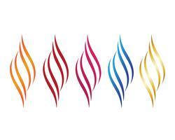 Brandflamma Logo Mall vektorikon Olje-, gas- och energilogo