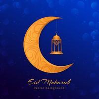 Eid Mubarak modern islamisk bakgrund vektor