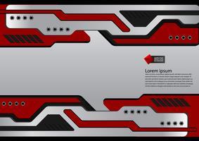 Röd och svart teknik abstrakt vektor bakgrund