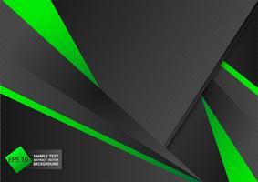 Abstrakter geometrischer grüner und schwarzer Farbhintergrund mit Kopienraum, Vektorillustration vektor