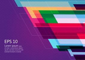 Flerfärgad geometrisk abstrakt bakgrund med kopia utrymme, Vektor illustration