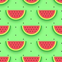 Wassermelone schneidet nahtloses Muster vektor