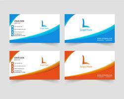 Kreativt visitkortdesign vektor
