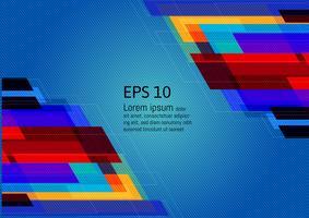 Flerfärgad geometrisk abstrakt bakgrund med kopia utrymme, Vektor illustration EPS10