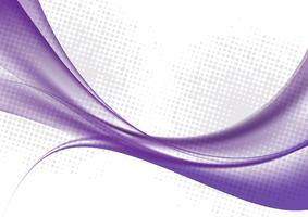Purpurrote Farbe bewegt auf weiße Hintergrundvektorillustration wellenartig