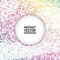 Kreis-Zusammenfassungshintergrund des Regenbogenfarbvektors moderner geometrischer. Gepunktete Textur-Vorlage. Geometrisches Muster im Halbton-Stil