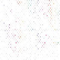 Moderner geometrischer Dreieckzusammenfassungshintergrund des Regenbogenfarbvektors. Gepunktete Textur-Vorlage. Geometrisches Muster im Halbton-Stil