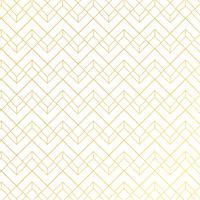 Guld geometriskt mönster med linjer på vitblå bakgrund art deco stil.