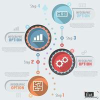 Flaches Infographik Design vektor