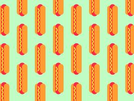 Hotdog-nahtloser Vektor-Hintergrund vektor