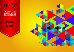 Flerfärgad geometrisk abstrakt vektor bakgrund med kopia utrymme