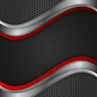 Rote und schwarze Farbe des geometrischen Vektorzusammenfassungshintergrundes mit Kopienraum