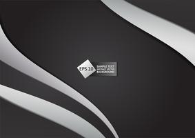 Hintergrund-Vektorillustration der schwarzen und grauen Farbzusammenfassung geometrische