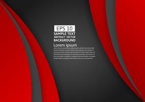 Rote und schwarze Farbe des geometrischen abstrakten Hintergrundes mit Kopienraum für Ihr Geschäft, Vektorillustration