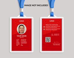 Röd fin ID-kortmall 19 vektor
