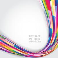 Multi farbiger geometrischer abstrakter Hintergrund mit Kopienraum. Vektor-Illustration