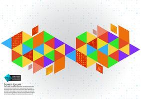 Bunte geometrische abstrakte Hintergrundvektorillustration mit Kopienraum