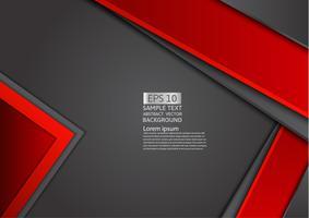 Röd och svart geometrisk abstrakt bakgrund med kopia utrymme, grafisk design vektor