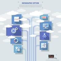 platt infographic options banner vektor