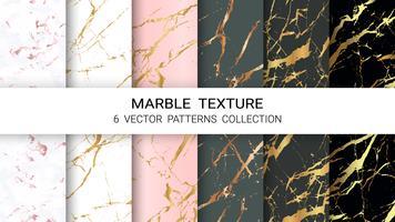 Marmorbeschaffenheit, erstklassiger Satz der Vektor-Muster-Sammlung, abstrakte Hintergrund-Schablone. vektor