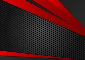 Rote und schwarze Farbe des abstrakten geometrischen Hintergrundes. Neue Hintergrundbeschaffenheit mit Kopienraumdesign für Ihr Geschäft