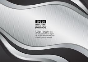 Svart och silvervåg abstrakt bakgrund vektor illustration