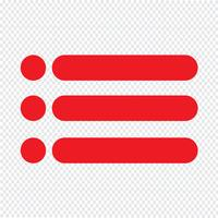 Bulleted lista ikon vektor illustration