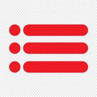 Listenikonen-Vektorillustration mit Aufzählungszeichen