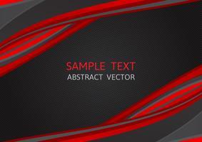 Rote und schwarze Farbe, abstrakter Vektorhintergrund mit Kopienraum, modernes Grafikdesign vektor