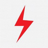 Blitz-Symbol Vektor-Illustration vektor