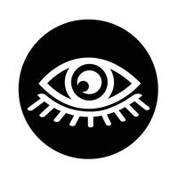 Sign of Eye-ikonen vektor