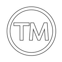 Warenzeichensymbol-Ikonenvektorillustration