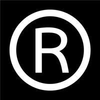 Eingetragenes Warenzeichen Symbol Vektor-Illustration
