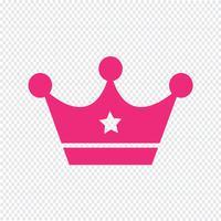 Crown-Symbol-Vektor-Illustration vektor
