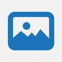 Foto ikon vektor illustration
