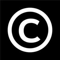 copyright symbol ikon vektor illustration