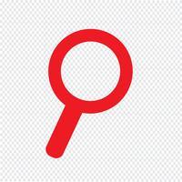 Suche Symbol Vektor-Illustration vektor