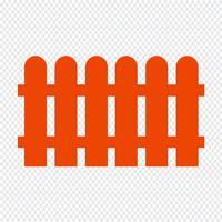 Staket ikon vektor illustration