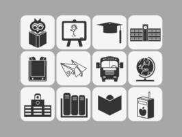 Schule-Vektor-Icons Pack