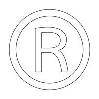 Registrerat varumärke ikon Vektor illustration