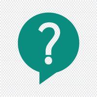 Fråga ikon vektor illustration
